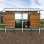Fondation carport